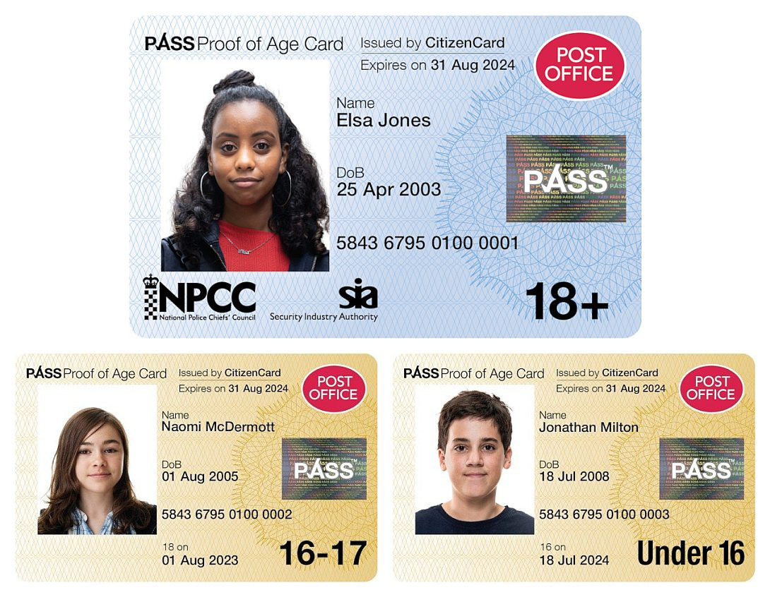 Post Office PASS Cards issued by CitizenCard
